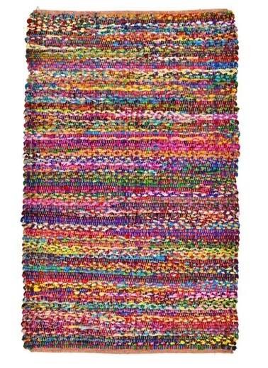 Giz Home Bolero Jüt Örgü Halı 120X180 D4-9286 Dikdörtgen Çok Renkli Renkli